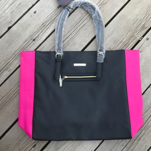 435ff7aed6af NWT Juicy Couture Tote Bag Large Purse Black Pink